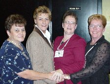 Shirley Taylor, Nancy Marshall, ??, Dianne Cherry
